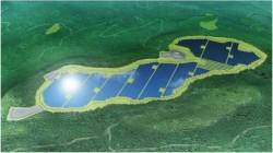 ソフトバンクメガソーラー鹿児島湧水ソーラーの完成予想図