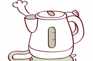 Illustration of electric kettle