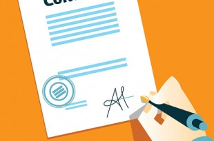 Hand signs contract
