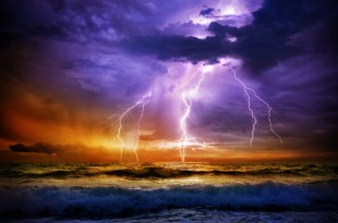 bad weather - storm on the sea