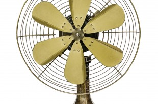 Vintage brass fan
