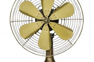 Vintage brass fan