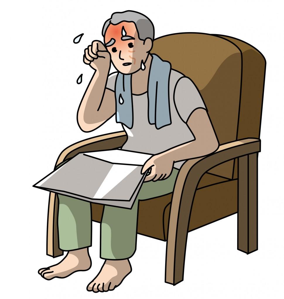 Heat stroke, Elderly person, the room, danger